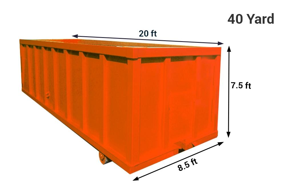 40 yard dumpster bin rental